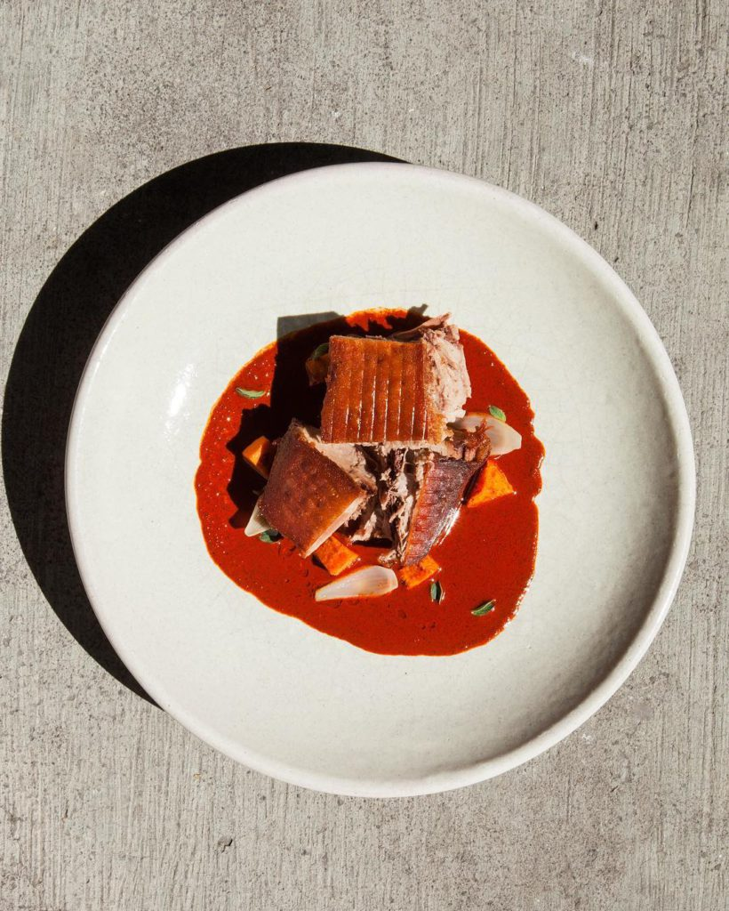 Rosetta award winning restaurant in Nome Norte Mexico City