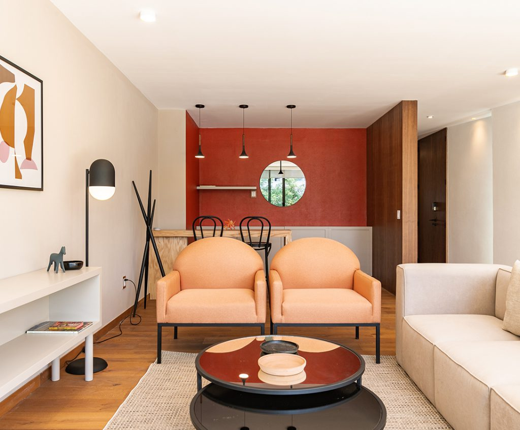 Dali PH Suite - Casai Living room with Natural Urbano light features