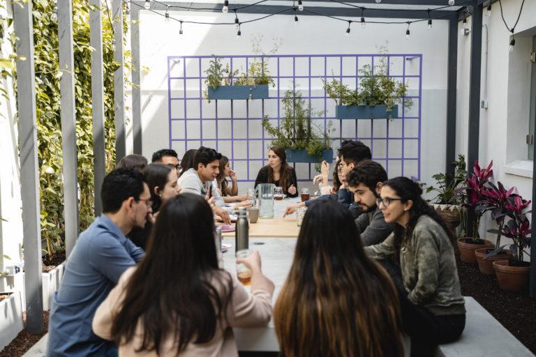Casai staff on their lunch break