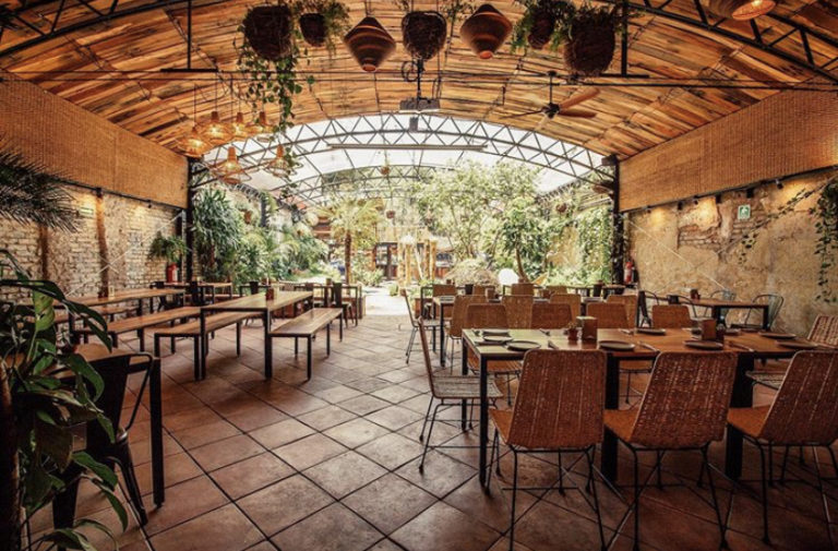 Parcela restaurant with outdoor patio in roma norte mexico city