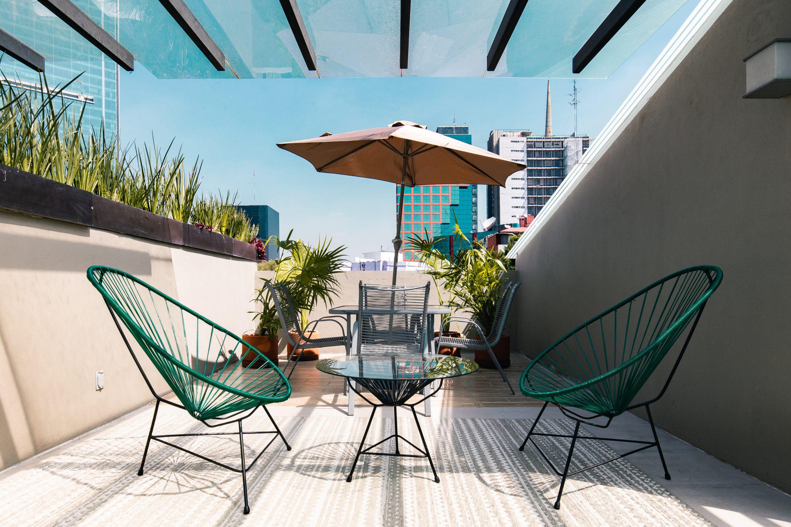 bleisure terrace in Juárez Mexico City