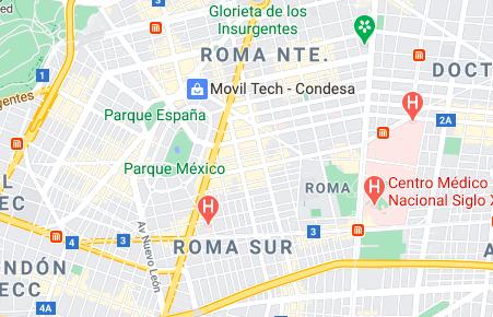 Map of Roma Mexico City