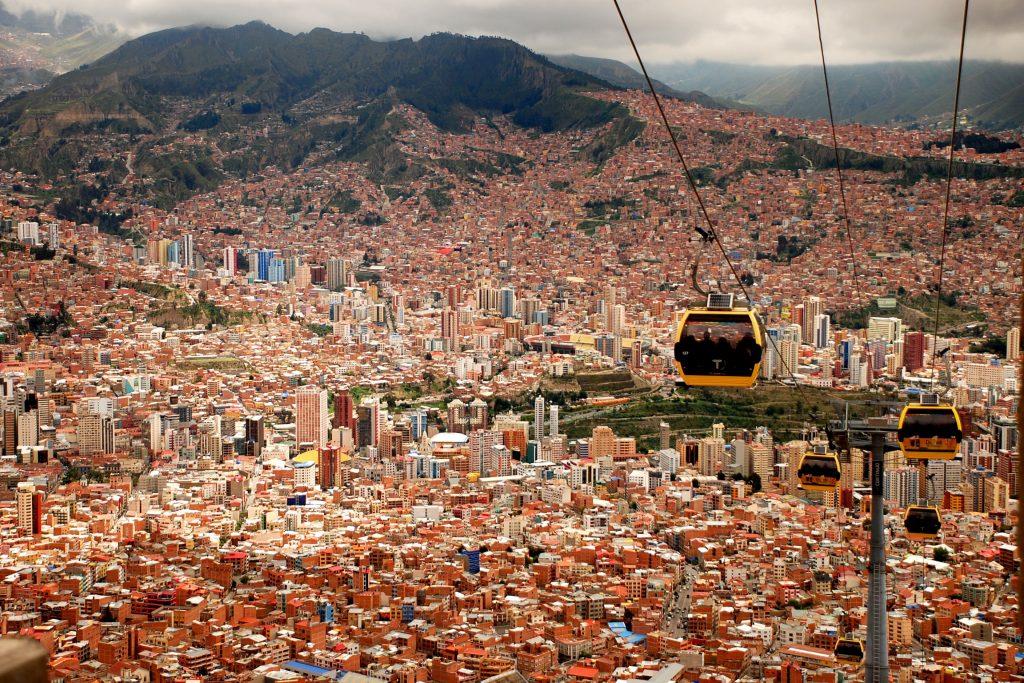 Cable Car view of La Paz, Bolivia