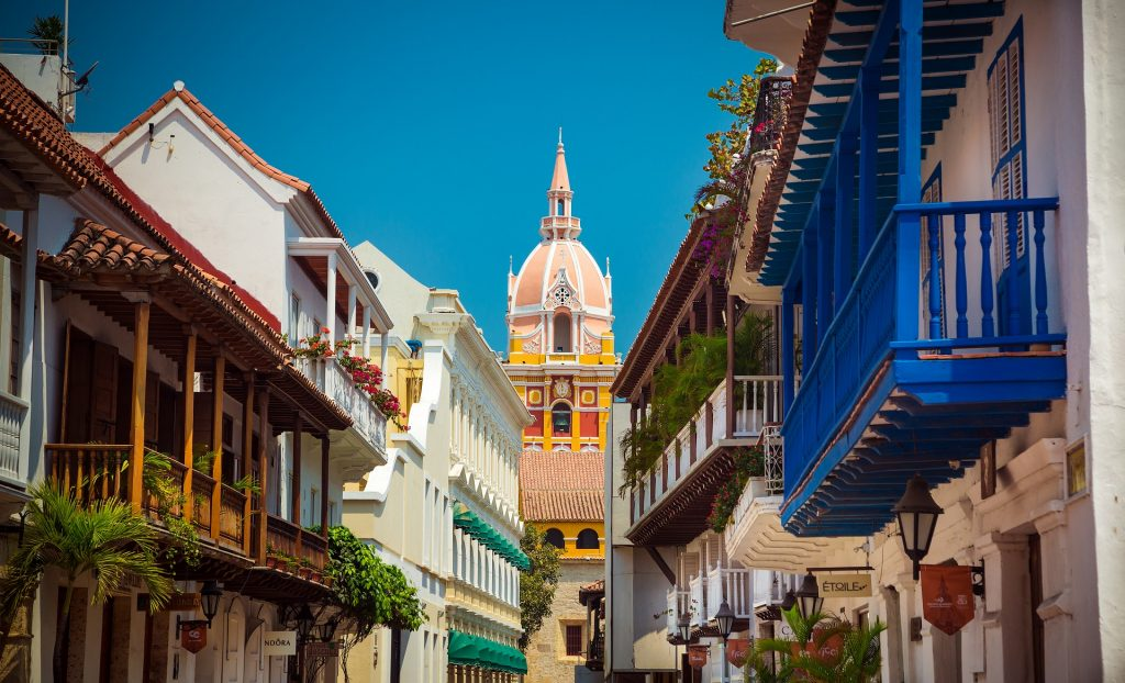 One of the best destinations in Latin America for Digital Nomads - Old City of Cartagena, Colombia
