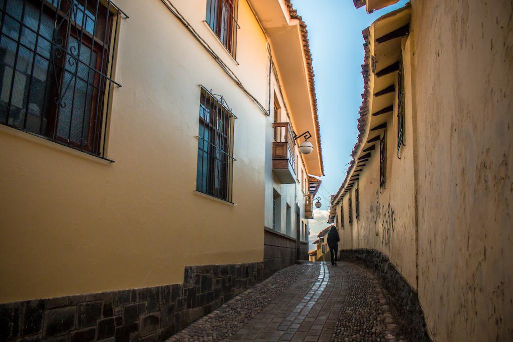 Typical street in Barrio de San Blas, Cusco