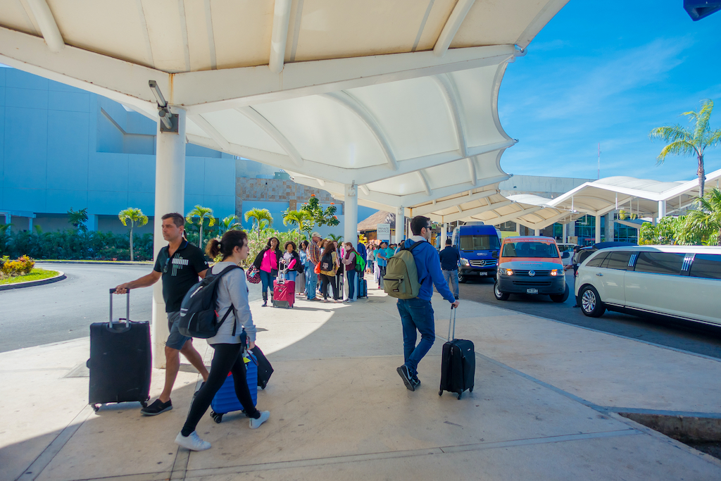 Arriving to Cancún Airport and taking the bus to Tulum