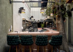 Elly's restaurant interior jaurez mexico city