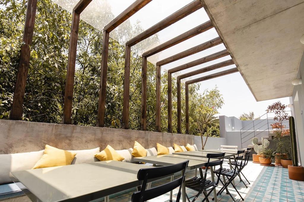 Private patio La Condesa. Homes and Villas by Marriott International