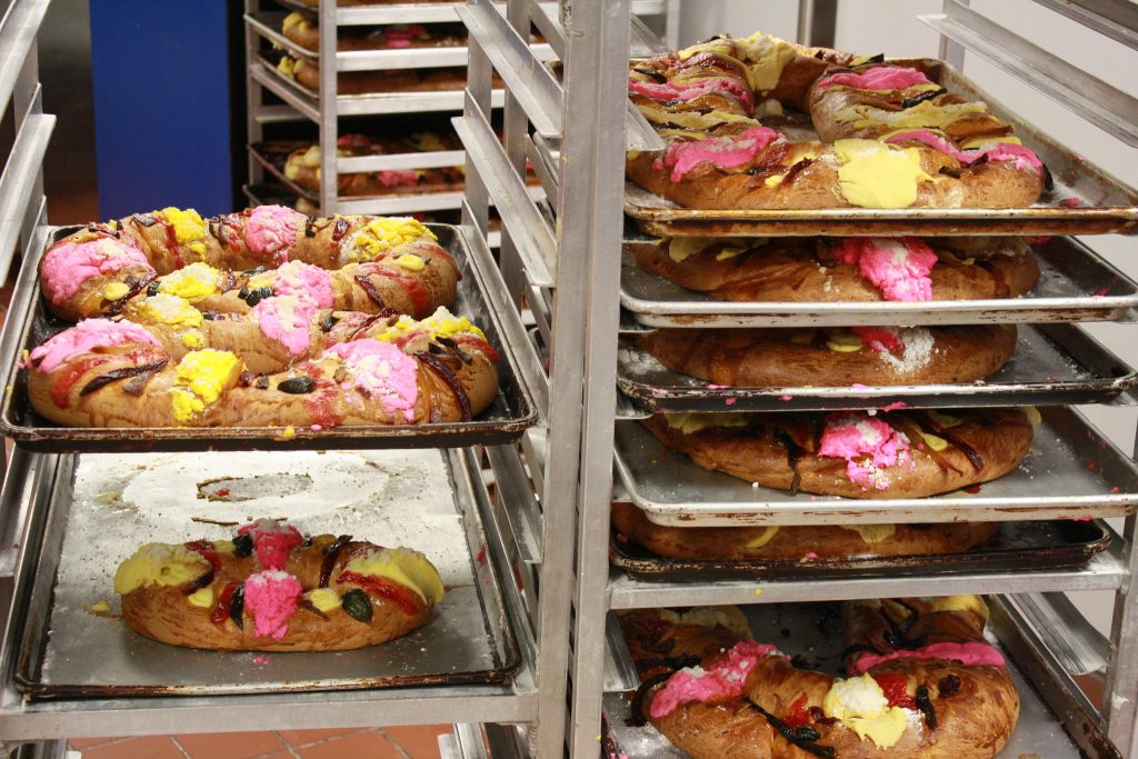 The traditional Rosca de Reyes in Mexico
