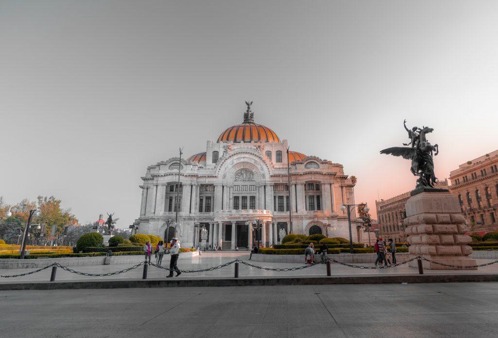View of Bellas Artes, Mexico City