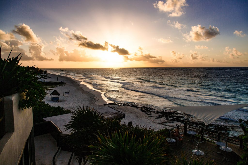 Sunset on the Caribbean Coast of Mexico