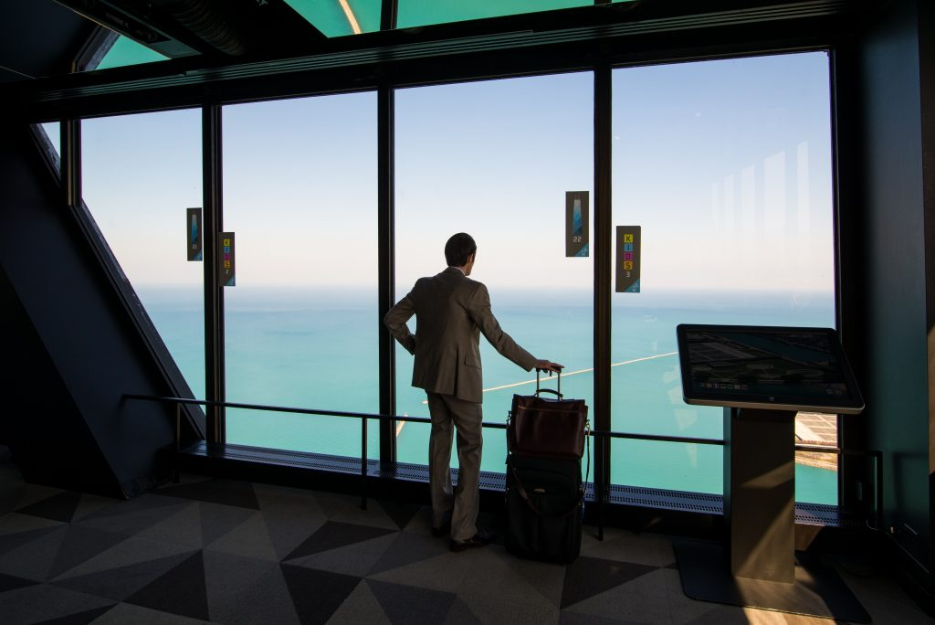 Business traveler at airport